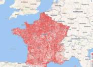 """La couverture réseau (mobile / internet) sur une carte, """"de France"""" ?"""