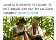 Doit-on évoquer avec doigté le cas Cassel quand il défend Gauguin le pédophile ?