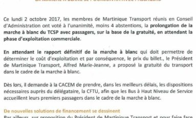 Martinique : on a enfin identifié ceux qui freinent le TCSP