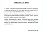 Quand Nilor pense niquer l'opinion publique en Martinique avec un communiqué pas signé