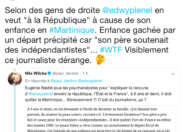 Le tweet du jour 27/11/17 - Martinique - Edwy Plenel