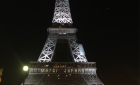 L'image du jour 9/12/17 - Paris -Tour Eiffel - Johnny Hallyday
