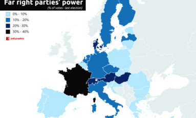 Le pouvoir des partis d'extrême droite en Europe (carte)