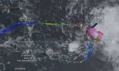 Hurricane Hunter en vol dans le Béryl