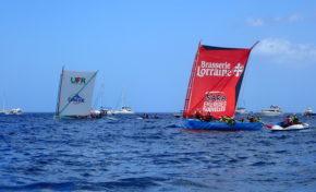 Tour des Yoles de Martinique : Brasserie Lorraine/SARA Energies Nouvelles  gagne chez elle au Marin