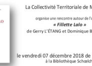 « Fillette Lalo » à la Bibliothèque Schoelcher vendredi