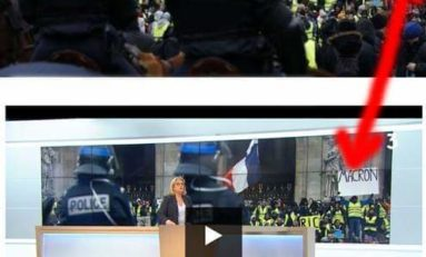 France 3 censure une pancarte anti-macron dans son JT.