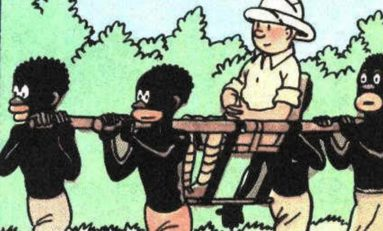 """Tintin a 90 ans. Donc ils sortent une version """"colorisée"""" de ... Tintin au Congo !"""