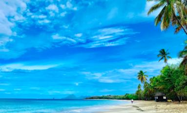 Martinique : la plage des salines est en vigilance orange