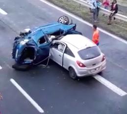 Grave accident  sous le pont de Carrère en Martinique