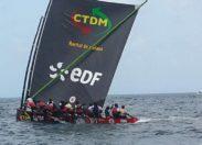 La yole CDTM/EDF remporte le prologue du Tour de la Martinique des yoles rondes au François